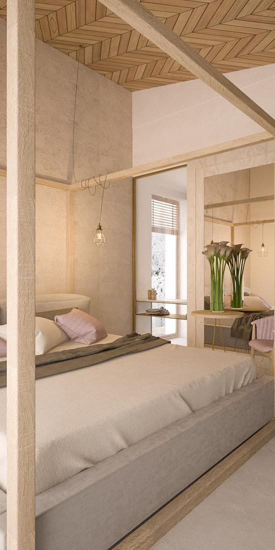 naturalne wnętrze_sypialnia_lustro
