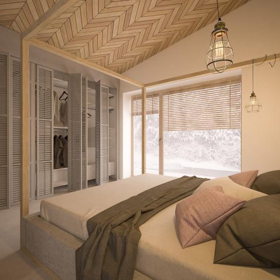 naturalne wnętrze_sypialnia_szafa